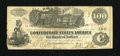 Confederate Notes:1862 Issues, T39 $100 1862. This $100 has the folds of a Very Fine, but edgewear, foxing, and pinholes must be figured into the esti...