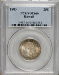Coins of Hawaii: , 1883 25C Hawaii Quarter MS66 PCGS. PCGS Population (69/9). NGC Census: (48/5). Mintage: 500,000. (#10987)...
