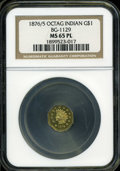 California Fractional Gold: , 1876/5 $1 BG-1129 MS65 NGC. NGC Census: (1/0). (#710940)...