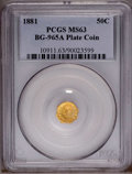 California Fractional Gold: , 1881 50C BG-965A MS63 PCGS. PCGS Population (2/1). (#10911)...