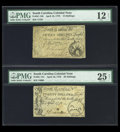 Colonial Notes:South Carolina, South Carolina April 10, 1778 15s and 20s.... (Total: 2 notes)