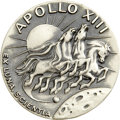 "Explorers:Space Exploration, Apollo 13 ""Flown"" Robbins Silver Medallion from the PersonalCollection of Mission Commander James Lovell, Serial Number 281...."