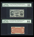 Fractional Currency:Third Issue, Fr. 1275sp 15c Third Issue Narrow Margin Pair.... (Total: 2 notes)