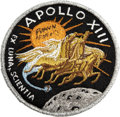 Explorers:Space Exploration, Apollo 13 Flown Embroidered Mission Crew Patch Directly from the Personal Collection of Mission Commander James Lovell....