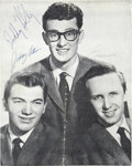 Music Memorabilia:Autographs and Signed Items, Buddy Holly and the Crickets Autographed British Tour Program Book....