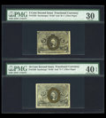Fractional Currency:Second Issue, Second Issue Fiber Paper Pair PMG Graded.. ... (Total: 2 notes)