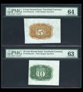 Fractional Currency:Third Issue, Specimen Back Group.... (Total: 3 notes)