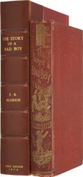 Books:Children's Books, Thomas Bailey Aldrich. The Story of a Bad Boy. Boston:Fields, Osgood, & Co., 1870....