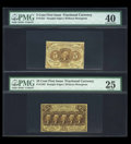 Fractional Currency:First Issue, First Issue Trio.... (Total: 3 notes)
