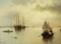 Fine Art - Painting, European:Antique  (Pre 1900), DAVID JAMES (British, 1872-1904). Untitled (Harbor Scene),1880. Oil on canvas. 20 x 27-1/2 inches (50.8 x 69.9 cm). Sig...