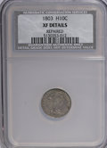 Early Half Dimes, 1803 H10C Small 8--Repaired--NCS. XF Details....
