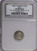 Early Half Dimes, 1800 H10C LIBEKTY--Reverse Scratched, Improperly Cleaned--NCS. XFDetails....