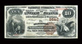National Bank Notes:Maine, Searsport, ME - $10 1882 Brown Back Fr. 490 The Searsport NB Ch. #(N)2642. ...