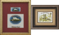 Antique Stone Lithography:Cigar Label Art, Vintage Cigar Labels: Four Individually Framed.... (Total: 4 Items)