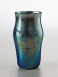Art Glass:Tiffany , TIFFANY STUDIOS. A Favrile Glass Vase, circa 1910. Engraved on thebase: x 221 L.C.Tiffany - Favrile. 7-3/4 inches (19.7...