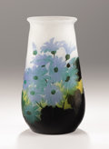 Art Glass:Galle, EMILE GALLÉ. An Overlaid and Etched Glass Vase, circa 1910. Signed in cameo: Gallé. 9-1/2 inches (24.1 cm) high. ...