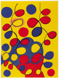 Fine Art - Painting, American:Contemporary   (1950 to present)  , ALEXANDER CALDER (American, 1898-1976). Tapestry, circa1977. Lithograph in colors on paper. 30 x 23 inches (76.2 x 58.4...