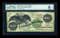 Large Size:Legal Tender Notes, Fr. 165 $100 1862 Legal Tender PMG Very Good 8 Net....