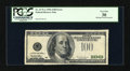 Error Notes:Partial Third Printing, Fr. 2175-A $100 1996 Federal Reserve Note. PCGS Very Fine 30.. ...