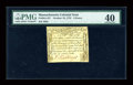Colonial Notes:Massachusetts, Massachusetts October 18, 1776 9d PMG Extremely Fine 40....