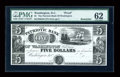 Obsoletes By State:District of Columbia, Washington, DC- Patriotic Bank of Washington $5 18__ Proof G34. ...
