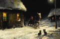 Fine Art - Painting, Russian:Antique (Pre-1900), PETR NIKOLAEVICH GRUZINSKY (Russian, 1837-1892). Winter. Oilon canvas. 16 x 23-3/4 inches (40.6 x 60.3 cm). Signed lowe...