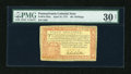 Colonial Notes:Pennsylvania, Pennsylvania April 10, 1777 40s PMG Very Fine 30 Net....