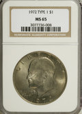 Eisenhower Dollars, 1972 $1 Type One MS65 NGC. PCGS Population (193/4). Numismedia Wsl. Price for NGC/PCGS coin in MS65: $2...
