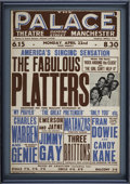 "Music Memorabilia:Posters, The Platters Vintage British Concert Poster (1957) 10"" x 15""...."