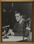 Music Memorabilia:Photos, Elvis Presley Army Press Conference Photo....