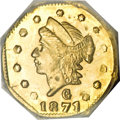 California Fractional Gold, 1871 25C Liberty Octagonal 25 Cents, BG-765, R.3, MS66 NGC....