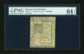 Colonial Notes:Delaware, Delaware January 1, 1776 5s PMG Choice Uncirculated 64 EPQ....