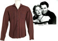Movie/TV Memorabilia:Costumes, Glenn Ford's Flannel Shirt from The Redhead and theCowboy....