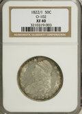 Bust Half Dollars: , 1822/1 50C XF40 NGC. O-102. NGC Census: (3/71). PCGS Population(4/52). Numismedia Wsl. Price for NGC/PCGS coin in XF40: ...