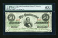 Confederate Notes:1863 Issues, T57 $50 1863 PF-8 Cr 414.. ...