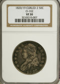Bust Half Dollars: , 1820/19 50C Curl Base 2 VF30 NGC. O-102. PCGS Population (3/52).(#6126)...