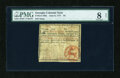 Colonial Notes:Georgia, Georgia June 8, 1777 $4 PMG Very Good 8 Net....