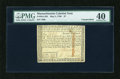 Colonial Notes:Massachusetts, Massachusetts May 5, 1780 $7 PMG Extremely Fine 40....
