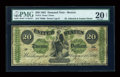 Large Size:Demand Notes, Fr. 13 $20 1861 Demand Note PMG Very Fine 20 Net....