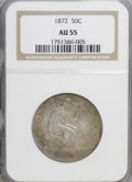 Seated Half Dollars: , 1872 50C AU55 NGC. NGC Census: (5/25). PCGS Population (6/33).Mintage: 880,600. Numismedia Wsl. Price for NGC/PCGS coin in...