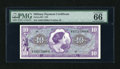 Military Payment Certificates:Series 651, Series 651 $10 PMG Gem Uncirculated 66 EPQ....