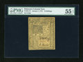Colonial Notes:Delaware, Delaware January 1, 1776 10s PMG About Uncirculated 55 EPQ....