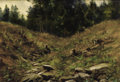 Fine Art - Painting, Russian, ANDREJ NIKOLAJEVICH SCHILDER (Russian, 1861-1919). Hollow, circa 1880s. Oil on canvas laid on board. 8-3/4 x 12-1/4 inch...