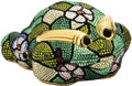 "Estate Jewelry:Purses, Austrian Crystal, Yellow Metal, ""Flowered Frog"" Evening Bag. ..."