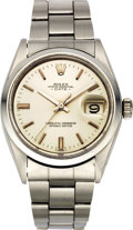 Timepieces:Wristwatch, Rolex Men's Oyster Perpetual Date Steel Wristwatch Ref. 1500, circa1968. ...