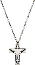 Estate Jewelry:Necklaces, Sterling Silver Cross Pendant-Necklace, James Avery. ...