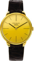 Timepieces:Wristwatch, Patek Philippe Men's Gold Wristwatch, Ref. 2592-1, circa 1965. ...