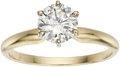 Estate Jewelry:Rings, Diamond Solitaire, Gold Ring. ...
