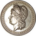 Expositions and Fairs, Rare Silver 1892 Eglit-101 Liberty Head/Columbus Landing Medal....