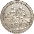 """Expositions and Fairs, 1892 World's Columbian Expo """"Cristoforo Colombo"""" Medal, Eglit-37,AU55 NGC...."""